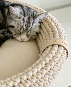 Coco Cat Bed Beige by Labbvenn