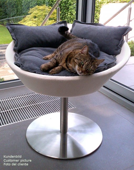 Luxury Cosmo Faux Leather Cat Bed