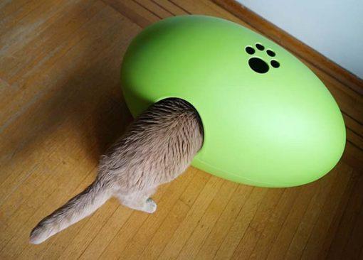 Luxury Green Poopoopeedo Cat Litter Box