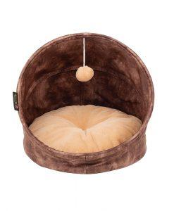 Kensington Cat Bed - Chocolate