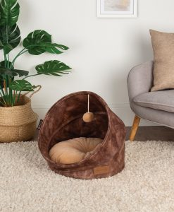 Kensington Cat Bed - Chocolate