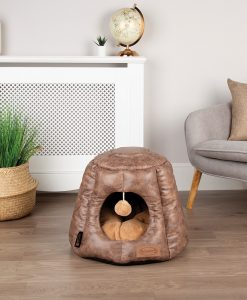 Knightsbridge Cat Cave Bed - Chocolate