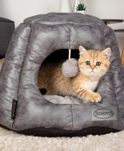 Knightsbridge Cat Cave Bed - Grey