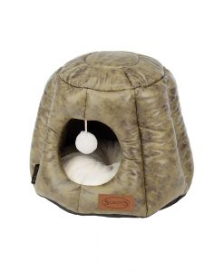Knightsbridge Cat Cave Bed - Olive