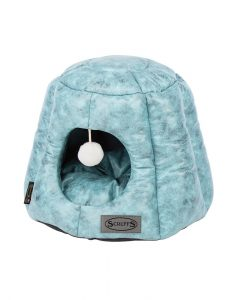Knightsbridge Cat Cave Bed - Turquoise