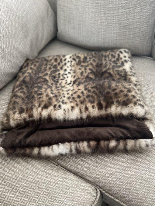 Luxury Faux Fur Cat Snuggle Cave Bed