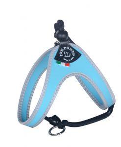Tre Ponti Easy Fit Liberta Light Blue Cat Harness with No Escape Adjustable Closure