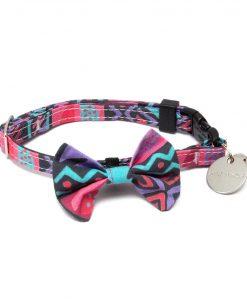 Mud Cloth Cat Bow Tie
